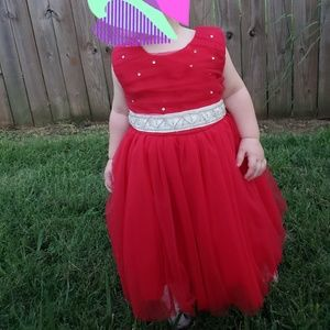 Red dress with custom bling